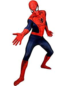 "Classic Superhero Morphsuit Costumes Spiderman Iron Man Deapool Captain America Wolverine All Sizes Small To XXL (Small 4ft6""- 5ft (138cm - 150cm), Classic Spiderman Costume) by fancy dress warehouse [並行輸入品]"