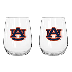 Buy NCAA Auburn Tigers Curved Beverage Glasses (Pack of 2), 16-Ounce by Boelter Brands
