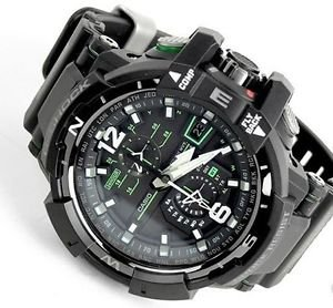 Casio G-Shock GWA-1100-1A3 G-Aviation Series Men's Stylish Watch - Black / One Size