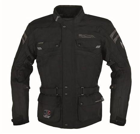 Motorradjacke Spirit textil projecteur und atmungsaktiv Noir Gr. avec braguette à boutons pour homme
