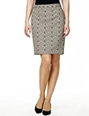 Double Diamond Print Mini Skirt