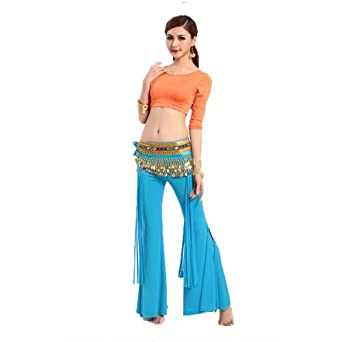 H:oter Mix Color Comfortable Belly Dancing Costumes Set--A Three-Piece, For Pricing, Price/Set