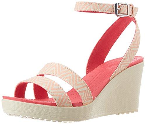 b0252323613e crocs Women s Leigh Graphic Wedge Sandal - Import It All