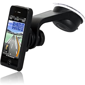 Wicked Chili Design KFZ Halterung mit Schutzhülle für Apple iPhone 4S / iPhone 4 (vibrationsfrei, QuickOUT, inkl. Case)