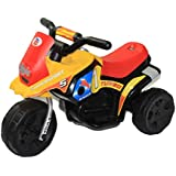 Brunte Turbo Battery Operated Sports Bike Red Yellow With Light And Sound