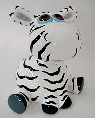 Adorable Bobble Head Zebra Money Bank Piggy