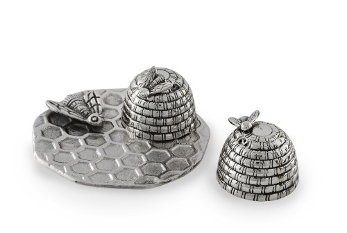 Star Home Beehive Salt and Pepper Set with Tray