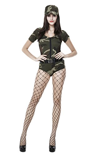 JustinCostume Women Sexy Dirty Cop Police Officer Nurse Uniform Halloween Costume