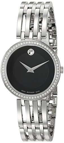 Movado Women's Swiss Quartz Stainless Steel Automatic Watch, Color:Silver-Toned (Model: 0607052)