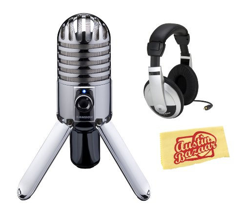 Samson Meteor Mic Usb Microphone Bundle With Headphones And Polishing Cloth