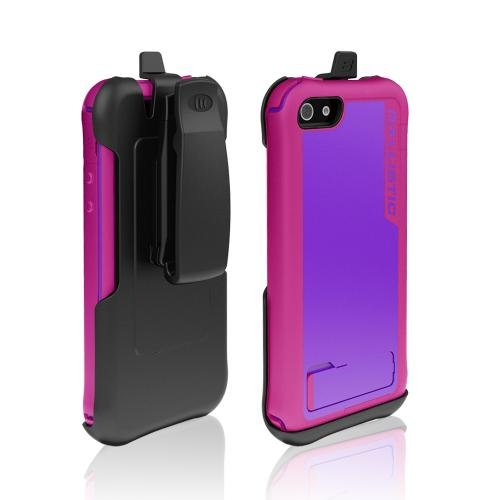 Great Price Ballistic Purple/ Hot Pink Every1 Series Hybrid Case w/ Holster & Built-In Screen Protector for Apple iPhone 5