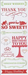 Martha Stewart Crafts Clear Stamps, All Occasions
