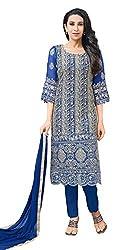 Mahaveer Fashion Women's Dress Material (8307_30_66006_Blue_Free Size)