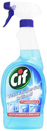 Cif - Detergente, Vetri e Superfici Brillanti con Ammoniaca, Senza Aloni -  g750 ml