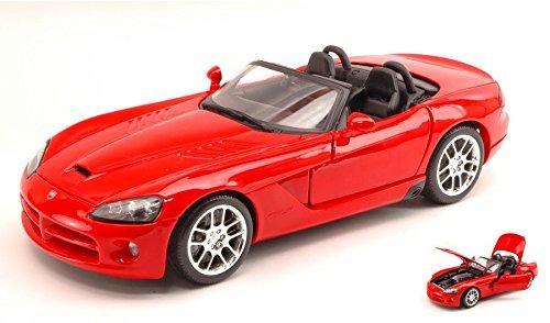 dodge-viper-srt-10-2003-red-118-maisto-auto-stradali-modello-modellino-die-cast