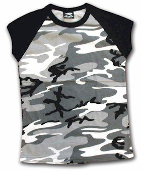 Urban Camouflage Sleeve Women's T Shirt