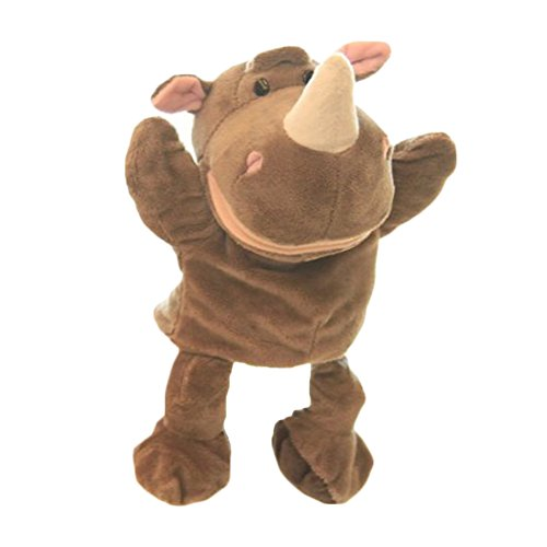 Cute Plush Happy Kids Hand Puppets Animal Friends Hand Puppets (Rhinoceros)