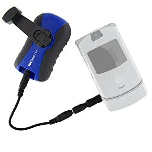 SOS Charger Hand-Crank Emergency Cell Phone Charger with 3 LED Flashlight.