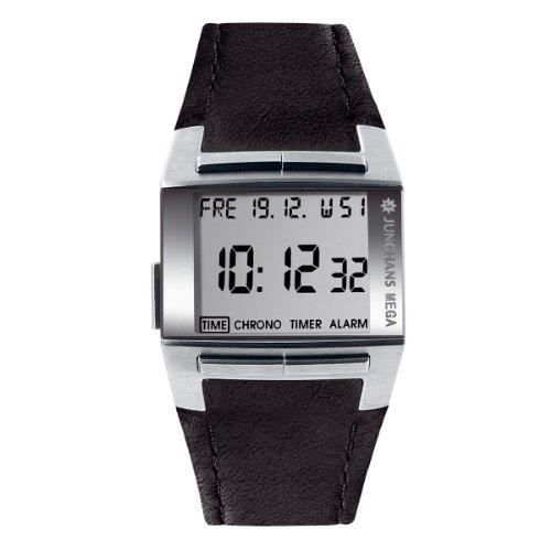 Junghans Mega 1000 026/4510.00 - Reloj de caballero de cuarzo, correa de piel color negro