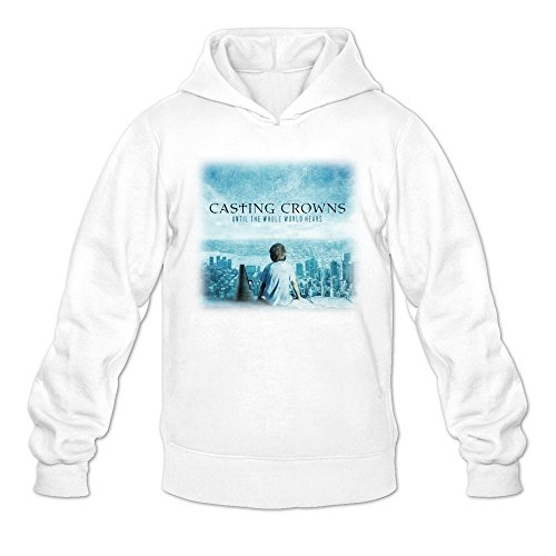 Men's Casting Crowns Until The World Hears Album Hoodies White (Casting Crowns Tickets compare prices)