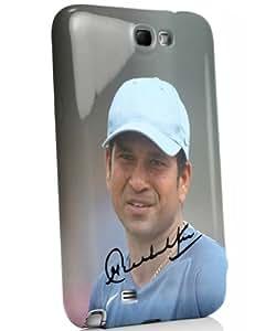 iAccy STS006 Sachin Tendulkar Signature Case for Samsung Galaxy Note 2 (Glossy Finish)