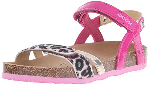 Geox J New Sandal Aloha G Sandali con Cinturino alla Caviglia, Bambine e Ragazze, Pink (C8002), 34