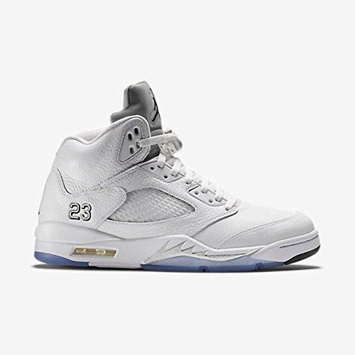 new styles f7bc4 1c83d Nike Air Jordan 5 Retro Metallic Silver White 136027-130 Remastered Size 10
