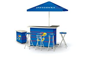 Best of Times Kansas Jayhawks Deluxe Package Bar (Discontinued by Manufacturer) by Best of Times, LLC