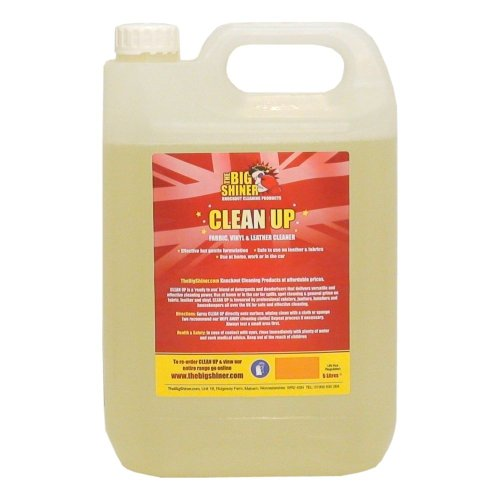 Multi Fabric & Leather Cleaner - CLEAN UP 5 Litre from TheBigShiner gently shampoos fabrics, leather, carpets & upholstery