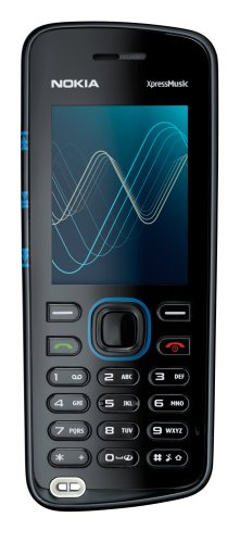 Nokia 5220 XpressMusic blue (individualisierbares Design, MP3, Bluetooth, Kamera mit 2 MP) Handy