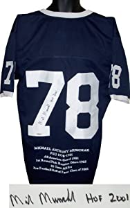 Mike Munchak signed Penn State Nittany Lions Navy Custom Jersey HOF 2001 w ... by Athlon+Sports+Collectibles