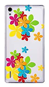 WOW Transparent Printed Back Cover Case For Huawei Ascend P7