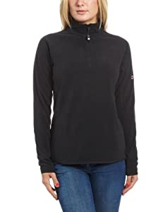 Berghaus Spectrum Micro Half Zip Women's Fleece - Black/Black, Size 8