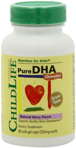 Child Life Essentials Pure Dha, 90 Softgels 250 mg