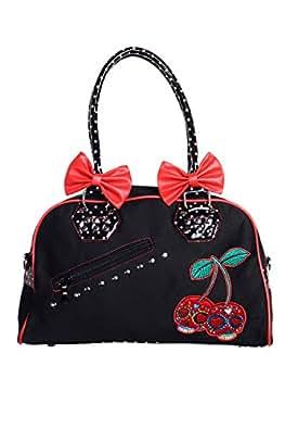 Banned Alternative Apparel UK Cherry Skull Polka Dots Purse Handbag