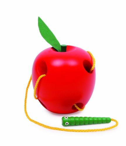 Small Foot Company 2646 - Gioco per l'infanzia: Infila il bruco nella mela