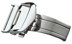 [バンビ]BAMBI 三つ折れプッシュバックル レザーバックル用 シルバー色 18mm ZS07P