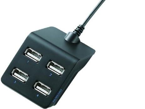 ELECOM USBハブ USB2.0対応 これハブ プラス バスパワー 4ポート コンパクト 1.5m ブラック U2H-E415BBK