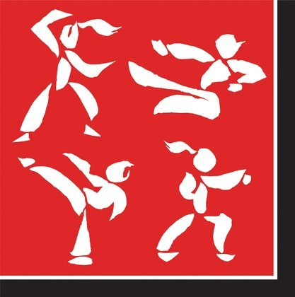 Martial Arts Black Belt Luncheon Napkins