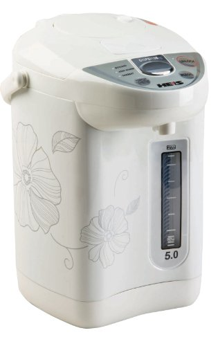 Heis Hp7500 5-Quart Hot Water Urn, With Auto & Manuel Water Dispenser, With Shabbos Mode
