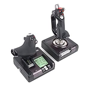 Saitek X52 Pro Flight Control System Joystick  filaire Boutons programmables rétro-éclairage noir et gris