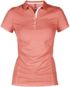 Lija Ladies Precision Collection Core Jersey Short Sleeve Gather Polo Shirt by Lija