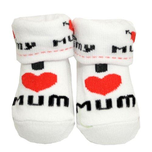 Unisex Baby 'I love Mummy / Mum' Gift Socks - 0-6 Months
