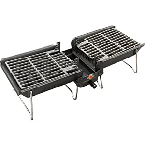Grilltech Portable Grill - Hibachi Style Tabletop BBQ (with Snuff-Out Pouch)