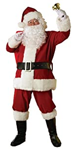 Rubie's Costume Men's Deluxe Regal Santa Claus Suit,Red,Standard Costume