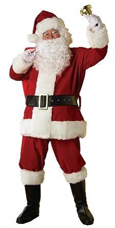 Rubie's Costume Men's Deluxe Regal Santa Claus Suit,Red,Standard Costume