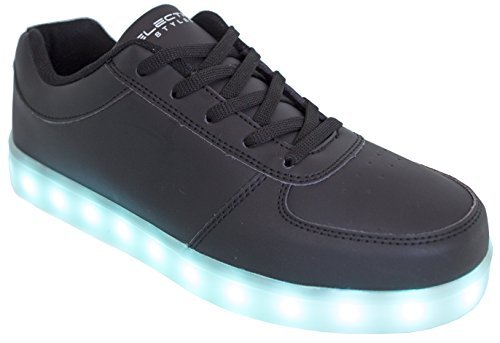 LED Shoes Light up Glow Sneakers (Black, (14 men))
