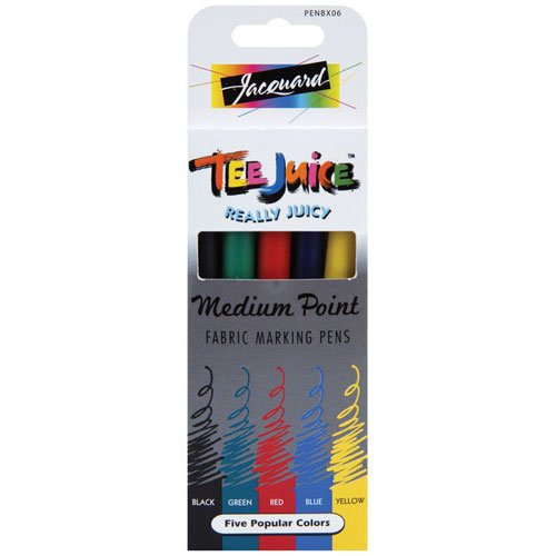 Jacquard Tee Juice Medium Point Fabric Markers (5 pack) - 1