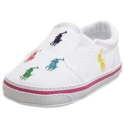 Ralph Lauren Layette Bal Harbour Crib Shoe (Infant/Toddler),White,1 M US Infant
