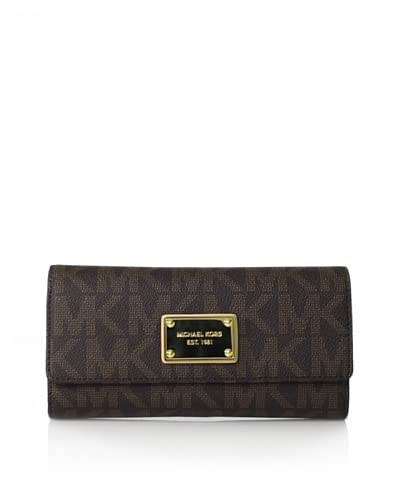 MICHAEL Michael Kors Women's Jet Set Checkbook Wallet, Brown